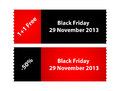 Special black friday labels for your shop Royalty Free Stock Images