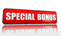 Special bonus banner Royalty Free Stock Photography