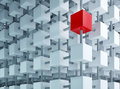 Special box on grid Royalty Free Stock Photo
