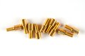 Special brass screws Royalty Free Stock Photo