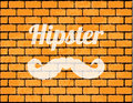 Special brick wall with hipster elements Royalty Free Stock Photo