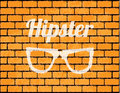 Special brick wall with hipster elements Royalty Free Stock Images