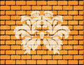 Special brick wall with vintage floral design Stock Photography