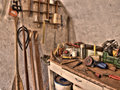 Special carpenter's workshop Royalty Free Stock Photo