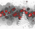 Special christmas black and white backgorund with neon red efect Royalty Free Stock Photo