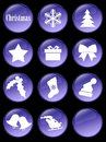 Special Christmas holiday buttons Royalty Free Stock Photo