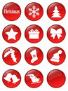 Special Christmas holiday buttons Royalty Free Stock Photos
