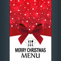 Special christmas menu for the restaurant Stock Image