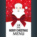 Special christmas menu for the restaurant Stock Photos