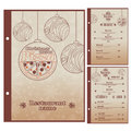 Special Christmas Restaurant menu for pizza Royalty Free Stock Photo