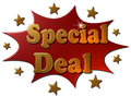 Special Deal (explosion) Royalty Free Stock Photo