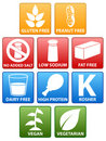 Special Diet Icons Stock Image