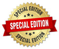 special edition 3d gold badge Royalty Free Stock Photo