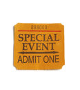 Special event ticket stub isolated on white Stock Image