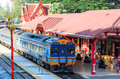Special express thailand train number at huahin station Royalty Free Stock Images