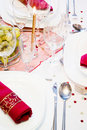 Special festive place setting Stock Images