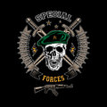 Special forces color emblem Royalty Free Stock Photo