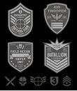 Special forces patch set