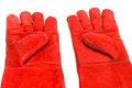 Special gloves for working in conditions of high temperatures Stock Images