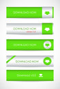 Special green website download buttons Royalty Free Stock Photography