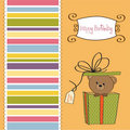 Special greeting card with teddy bear Royalty Free Stock Images