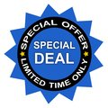 Special limited time deal Royalty Free Stock Photo