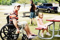 Special Needs Family Campout Royalty Free Stock Photo