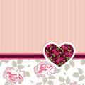 Special occasion card vector illustration of valentine love with heart of flowers Royalty Free Stock Photos