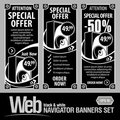 Special Offer Banner Set Vector Royalty Free Stock Photo