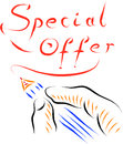 Special offer hand drawing background Royalty Free Stock Images