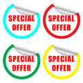 Special offer label or sticker with a colourful border Stock Photos