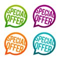 Special offer round Buttons. Circle Eps10 Vector. Royalty Free Stock Photo