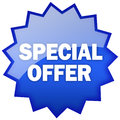 Special offer star isolated on white Royalty Free Stock Photo