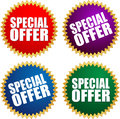 Special offer vector illustration of labels Royalty Free Stock Image