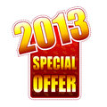 Special offer year 2013 label Stock Images