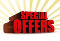 Special offers Royalty Free Stock Photos