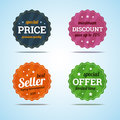 Special set of premium sale badges in flat style vector illustration Royalty Free Stock Photography