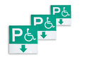 Special only sign plates for the disabled isolated on white background Stock Photo