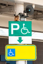 Special only sign plates for the disabled to be installed close to the speakers Royalty Free Stock Images
