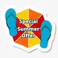 Special summer offer summer promotional design element on white Stock Images