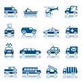 Special transportation icon set of icons Stock Photo