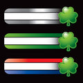 Specialized banners with green shamrock Royalty Free Stock Photo
