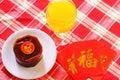 Specialteller nian gao chinese new year Lizenzfreie Stockbilder