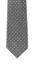 Specks necktie vertical close up white background Royalty Free Stock Photography
