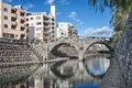 Spectacles bridge in nagasaki japan at megane Stock Image