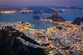 Spectacular aerial view over Rio de Janeiro Royalty Free Stock Photo