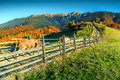 Spectacular autumn rural landscape near Bran,Transylvania,Romania,Europe Royalty Free Stock Photo