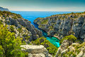 Spectacular Calanques D`En Vau in Cassis near Marseille, France Royalty Free Stock Photo