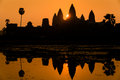 Spectacular clean sunrise at angkor wat cambodia looking a perfect the most beautiful temple Stock Photos