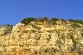 Spectacular cliffs on senhora da rocha nova beach in portugal Stock Image